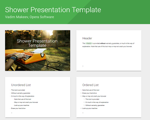 Gallery - Slideshow Templates - Free Web Alternative to PowerPoint ...